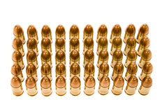 Rows of bullets Royalty Free Stock Image