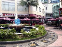 Rows of cafes and restaurants as well as site attractions at the Eastwood City Royalty Free Stock Images