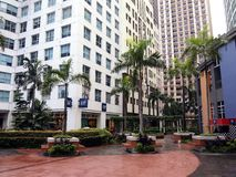 Rows of cafes and restaurants as well as site attractions at the Eastwood City Stock Photography