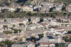 Rows of California Suburban Homes Stock Photography