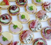 Rows of Canapes Stock Photo