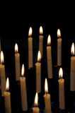 Rows of candles Stock Image