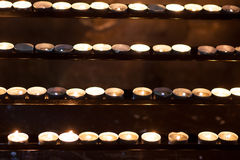 Rows of candles Royalty Free Stock Image