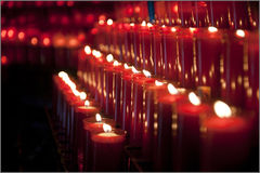Rows of candles Royalty Free Stock Photography
