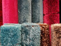 Rows of carpeting Stock Photos