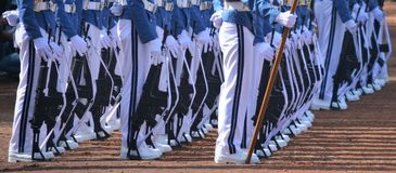 Rows of ceremonial troops stock photography