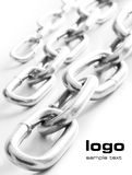 Rows of chains  Stock Photography