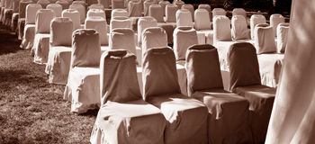 Rows of chairs. Royalty Free Stock Images