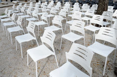 Rows of chairs Royalty Free Stock Photography