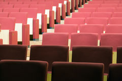 Rows of chairs in audience hall Royalty Free Stock Images