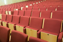 Rows of chairs in audience hall Stock Photo