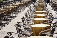 Rows of chairs Stock Photos