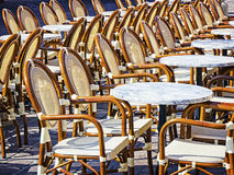 Rows of chairs Royalty Free Stock Images
