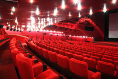Rows of chairs in cinema Royalty Free Stock Images