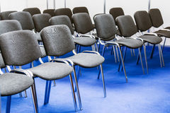 Rows of chairs at a conference Royalty Free Stock Photography