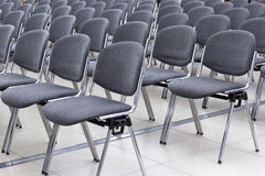 Rows of Chairs Royalty Free Stock Photo