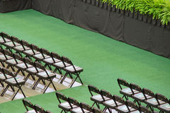 Rows of chairs form a beautiful pattern in USF 2014 commencement: Royalty Free Stock Image
