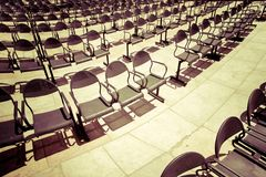 Rows of chairs at outdoors concert hal Stock Photo