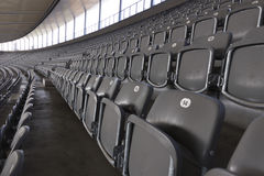 Rows of chairs in the rank. Rows of chairs in the top rank of the stadium stock photos