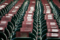 Rows of Chairs Set Up for Graduation Ceremony. Rows of chairs have been set up for a graduation ceremony Royalty Free Stock Photos