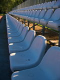 Rows of chairs in a stadium Stock Photography