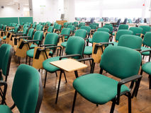 Rows of chairs in a university classroom Royalty Free Stock Photos