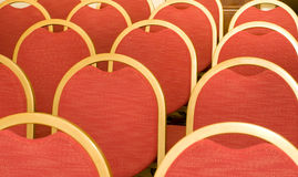 Rows of Chairs for visitors in conference hall Royalty Free Stock Image