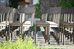 Rows of chairs Stock Image