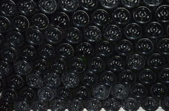 Rows of Champagne Bottles Royalty Free Stock Images