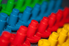 Rows of children's blocks Stock Image