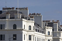 Rows of chimneys on Dover sea front Royalty Free Stock Image