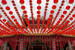 Rows of chinese lanterns Royalty Free Stock Photo