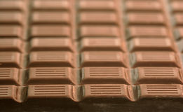 Rows of chocolate Stock Photo