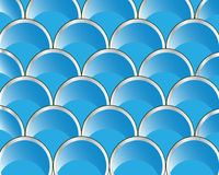 Rows from circle of the blue colour. Rows from round figures of the blue colour royalty free illustration