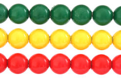 Rows of colorful balls on abacus Stock Photo