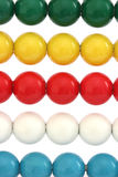 Rows of colorful balls on abacus Stock Image