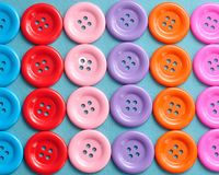Rows of colorful buttons Royalty Free Stock Images