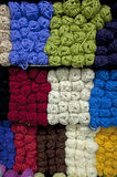 ROWS OF COLORFUL YARN 002 Stock Images