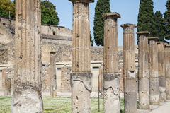 Rows of Columns in Pompeii Stock Photos