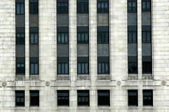 Rows and columns of windows. Wisconsin State Office Building, Madison, Wisconsin Stock Image