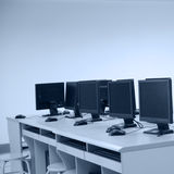 Rows of computer Royalty Free Stock Images