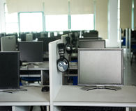 Rows of computer Stock Image