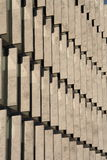 Rows of concrete blocks Royalty Free Stock Photo