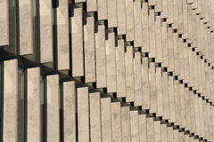 Rows of concrete blocks Stock Images