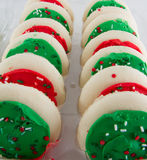Rows of cookies Stock Photos
