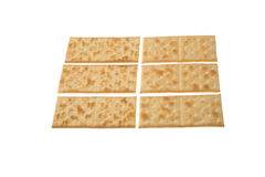 Rows of crackers Royalty Free Stock Photos