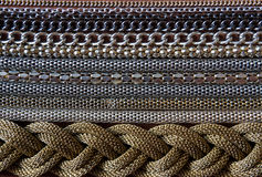 Rows of different chains Royalty Free Stock Photos
