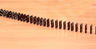 Rows of dominoes Stock Photography