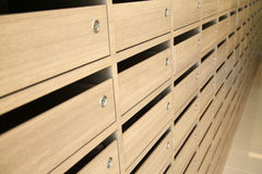 Rows of drawer Stock Photography