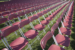 Rows of empty  chairs Stock Image